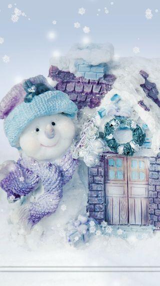 Обои на телефон праздник, рождество, frosty, 03