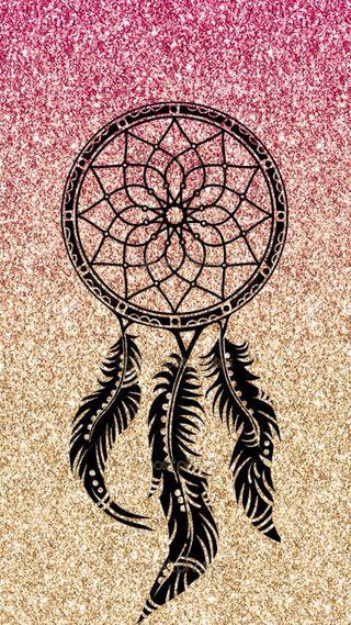 Обои на телефон ловец снов, сверкающие, розовые, перья, мечта, блестящие, dream glitter