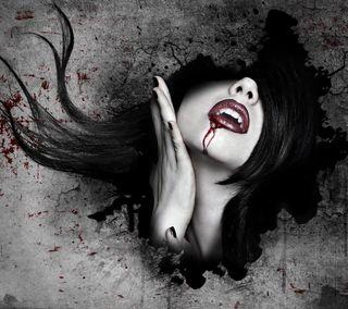 Обои на телефон опасные, ужасы, девушки, вампиры