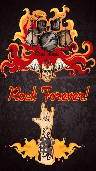 Обои на телефон постер, рок, навсегда, крутые, векторные, абстрактные, skullmusic