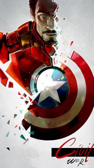 Обои на телефон железный, марвел, война, америка, marvel, man, capitain
