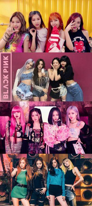 Обои на телефон черные, розовые, ultimo, hd, blackpinck, 4k
