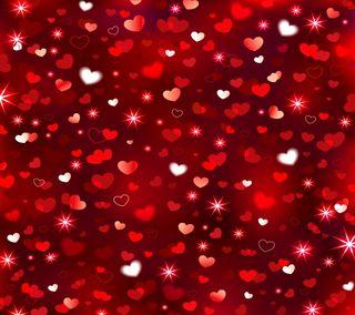 Обои на телефон сияние, фон, сердце, любовь, красые, валентинка, абстрактные, love, abstract hearts