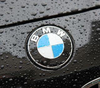 Обои на телефон эмблемы, мокрые, логотипы, капли, значок, дождь, бмв, bmw