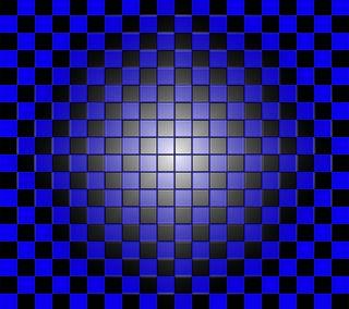 Обои на телефон коробка, шаблон, синие, куб, абстрактные, checker blue, checker, 3д, 3d
