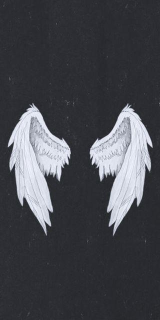 Обои на телефон летать, черные, крылья, белые, ангел