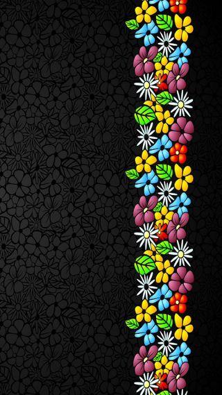 Обои на телефон текстуры, черные, цветы, цветные, фон, texture flowers