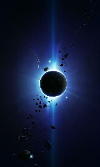 Обои на телефон туманность, космос, звезды, затмение, галактика, galaxy