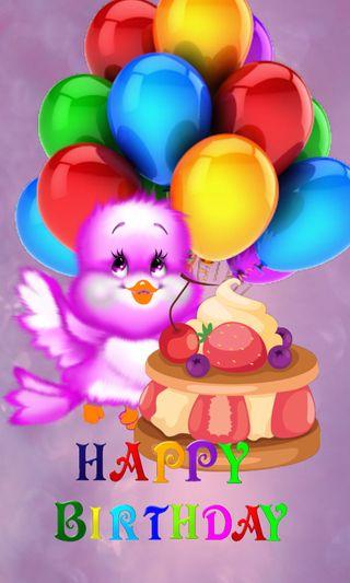 Обои на телефон шары, птицы, счастливые
