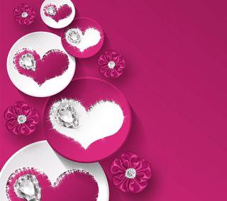 Обои на телефон валентинки, фиолетовые, сердце, романтика, любовь, дизайн, валентинка, бриллианты, valentines by marika, love