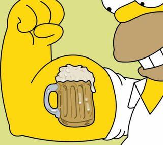 Обои на телефон тату, симпсоны, пиво, гомер, tatuagem, os simpsons, homer beer, cerveja