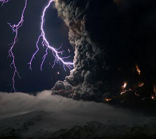 Обои на телефон шторм, молния