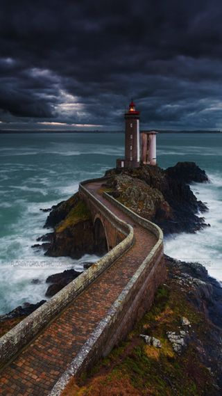 Обои на телефон путь, море, path and sea, and sea