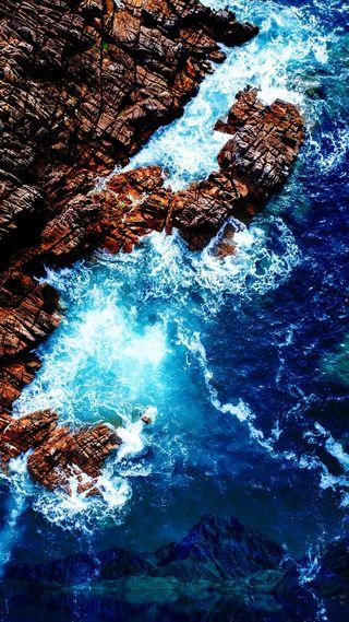 Обои на телефон черепахи, популярные, прекрасные, падает, море, красота, камни, волны, вода, белые, артистические, beautiful sea