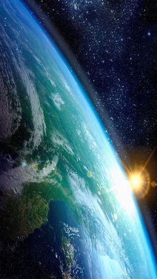 Обои на телефон планета, солнце, земля