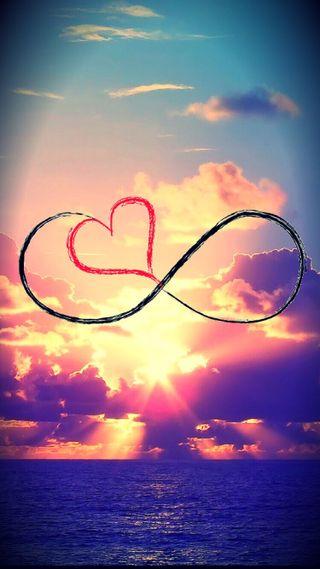 Обои на телефон бесконечность, сердце, любовь, love, infinity