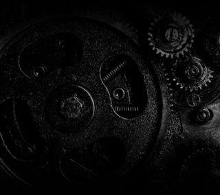 Обои на телефон шестерни, тускнеть, механизм, темные, ретро, машина, двигатель, dark gears