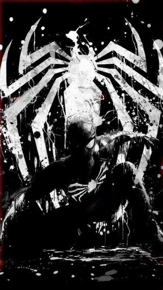 Обои на телефон веном, черные, человек паук, symbiote spiderman