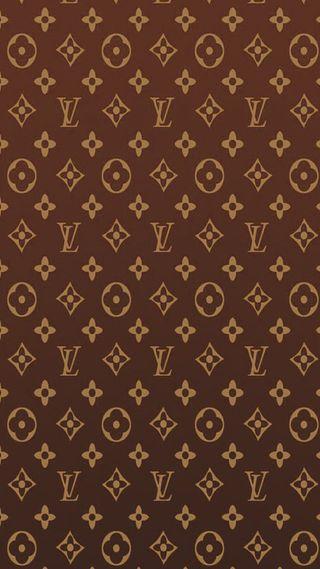Обои на телефон шаблон, луи, логотипы, коричневые, виттон, бренды, абстрактные, louis vuitton brown
