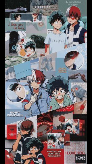 Обои на телефон тодороки, деку, герой, боку, аниме, todoroki y deku