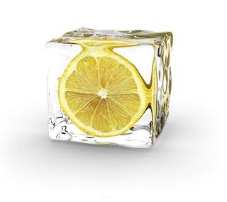 Обои на телефон лимон, куб, лед, ice cube2