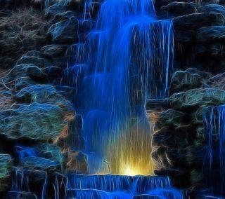Обои на телефон фрактал, синие, приятные, осень, крутые, классные, абстрактные