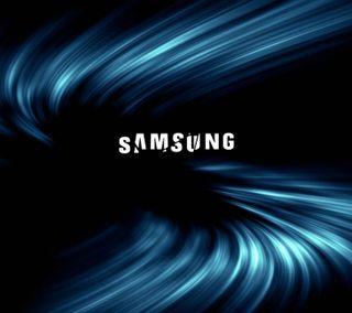 Обои на телефон линии, черные, типография, текст, синие, самсунг, логотипы, абстрактные, text logos, samsung, blue lines