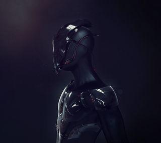 Обои на телефон фотошоп, черные, робот, киборг, будущее, sci-fi, 3д, 3d, 2014
