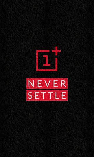 Обои на телефон решить, черные, никогда, красые, кожа, oneplus, never settle