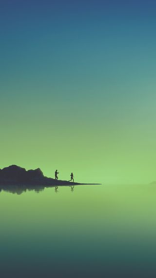 Обои на телефон синие, самсунг, природа, море, зеленые, грани, галактика, samsung, note 8 wallpaper, note 8, note, galaxy, 2018