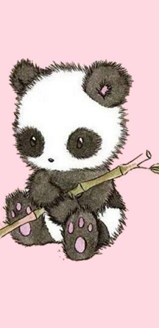 Обои на телефон панда, маленький, бамбук, little panda