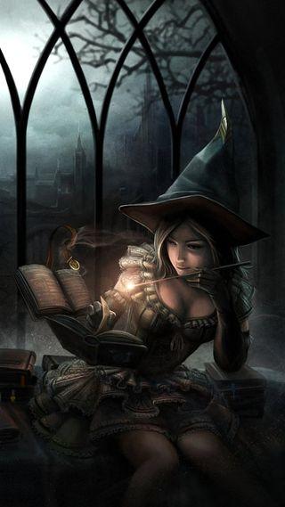 Обои на телефон ужасные, хэллоуин, замок, ведьма, witchcraft, wand, spell, occult, enchanted