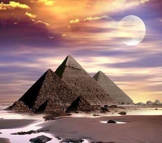 Обои на телефон пустыня, песок, природа, прекрасные, пирамиды, пейзаж, новый, крутые, eygpt, beautiful pyramids