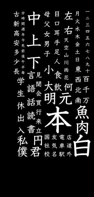 Обои на телефон базовые, японские, темные, слова, минимализм, аниме, japanese basic kanji