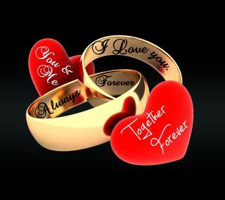 Обои на телефон навсегда, сердце, романтика, приятные, пара, новый, любовь, кольца, золотые, love