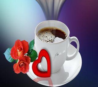 Обои на телефон чай, чашка, утро, сердце, розы, навсегда, любовь, кофе, love, hd, cup