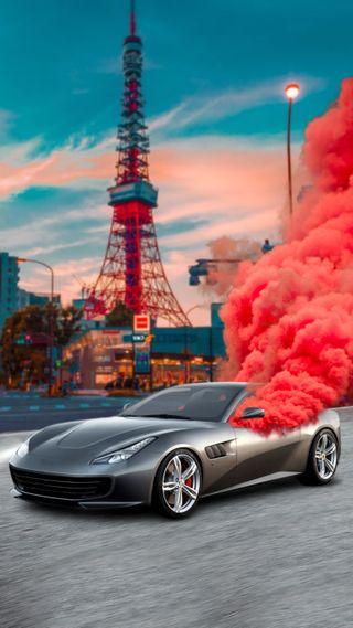"Обои на телефон фотошоп, свет, путь, небо, машины, жизнь, дым, город, way"", smoked car, SMOKED, SHERIF, Light, ""smoke"