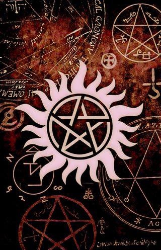 Обои на телефон castiel, galaxy, winchesters, красые, галактика, символ, сверхъестественное, ангелы, демоны, сэм, дин