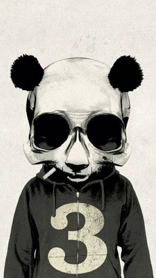 Обои на телефон панда, черные, череп, хипстер, сигареты, зомби, белые, абстрактные, hd