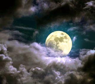 Обои на телефон облачно, фон, свет, облака, ночь, луна, cloudy night, clouds moon light, background night