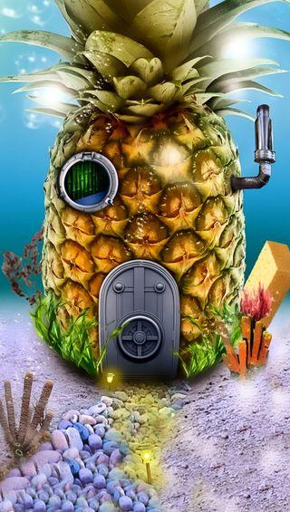 Обои на телефон дом, губка боб, spongebob house, rhj, jgs
