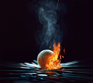 Обои на телефон баскетбол, спортивные, огонь, найк, мяч, игра, zedgeoct, zedgebbal, nike, he's on fire