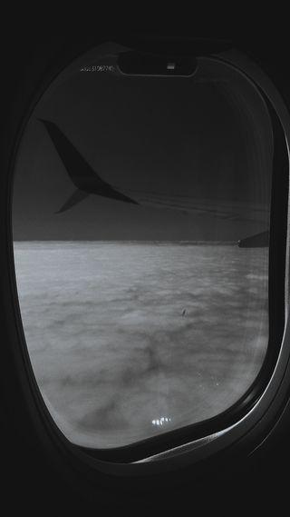 Обои на телефон окно, эстетические, черные, самолет, полет, облака, лофи, белые, planes