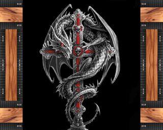 Обои на телефон тема, крест, дракон, dragon cross, dragon