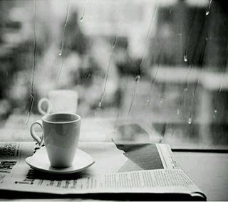 Обои на телефон чай, дождь, rain and tea, rain and