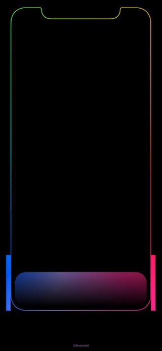 Обои на телефон iphone x, абстрактные, черные, дизайн, айфон, неоновые, простые, радуга, другие