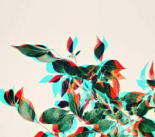 Обои на телефон сбой, ретро, растения, листья