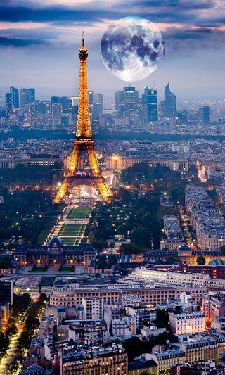 Обои на телефон страна, пейзаж, париж, ночь, новый, крутые, город, башня