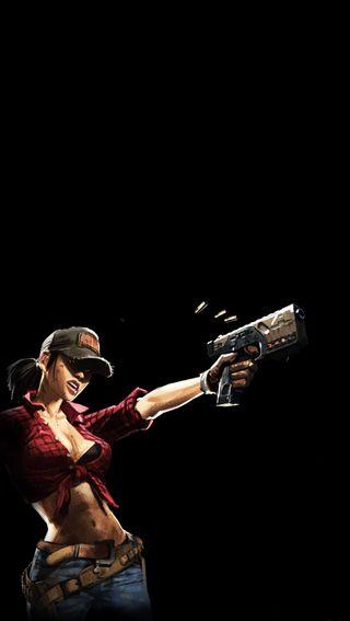 Обои на телефон экран блокировки, оружие, девушки, айфон, iphone, girl with gun