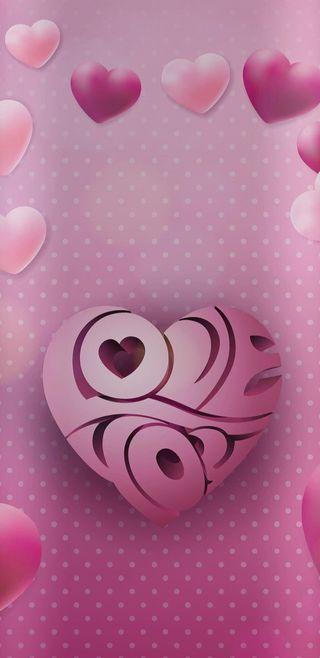 Обои на телефон симпатичные, сердце, розовые, прекрасные, девчачие